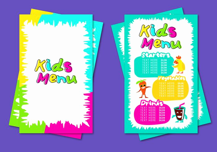 Free Kids Menu Template Lovely Kids Menu Template Vector Download Free Vectors Clipart