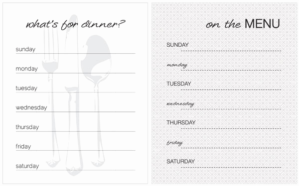 Free Kids Menu Template Luxury 20 Free Menu Planner Printables