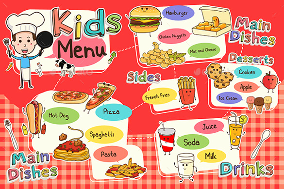 Free Kids Menu Template Luxury Kids Menu Template 27 Free Psd Eps Documents Download