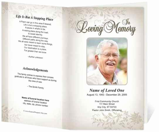 Free Memorial Program Template Awesome 21 Free Free Funeral Program Template Word Excel formats