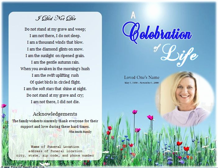 Free Memorial Program Template Awesome 64 Best Memorial Legacy & Program Templates Images On