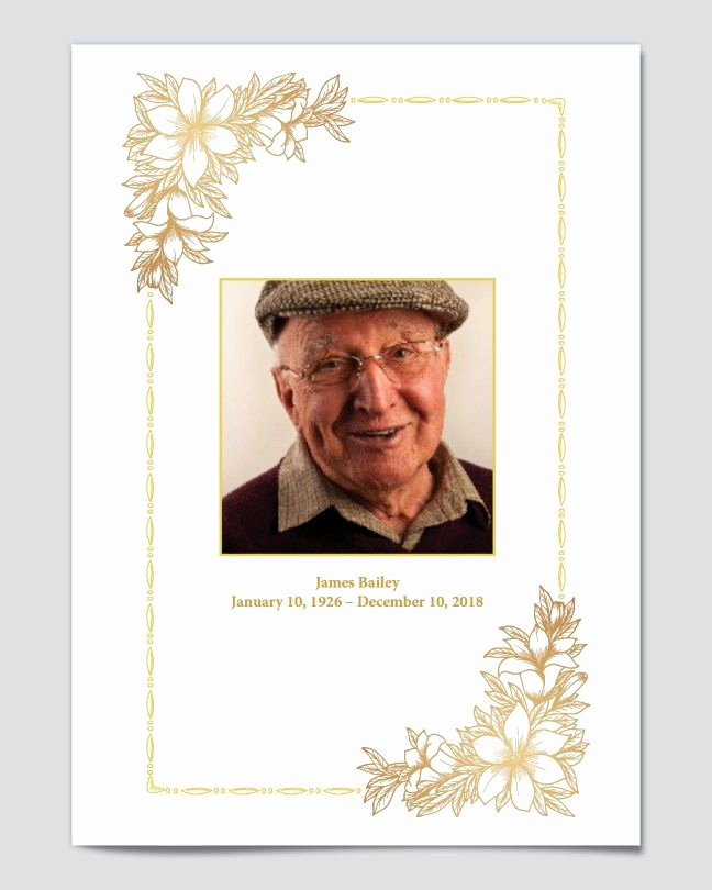 Free Memorial Program Template Awesome Free Editable Funeral Program Templates Free Editable