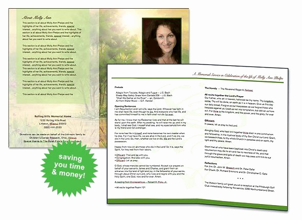 Free Memorial Program Template Beautiful Free Funeral Program Template