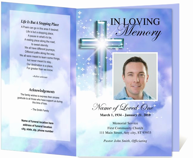 Free Memorial Program Template Download Awesome Download Edit Print Ready Made Program
