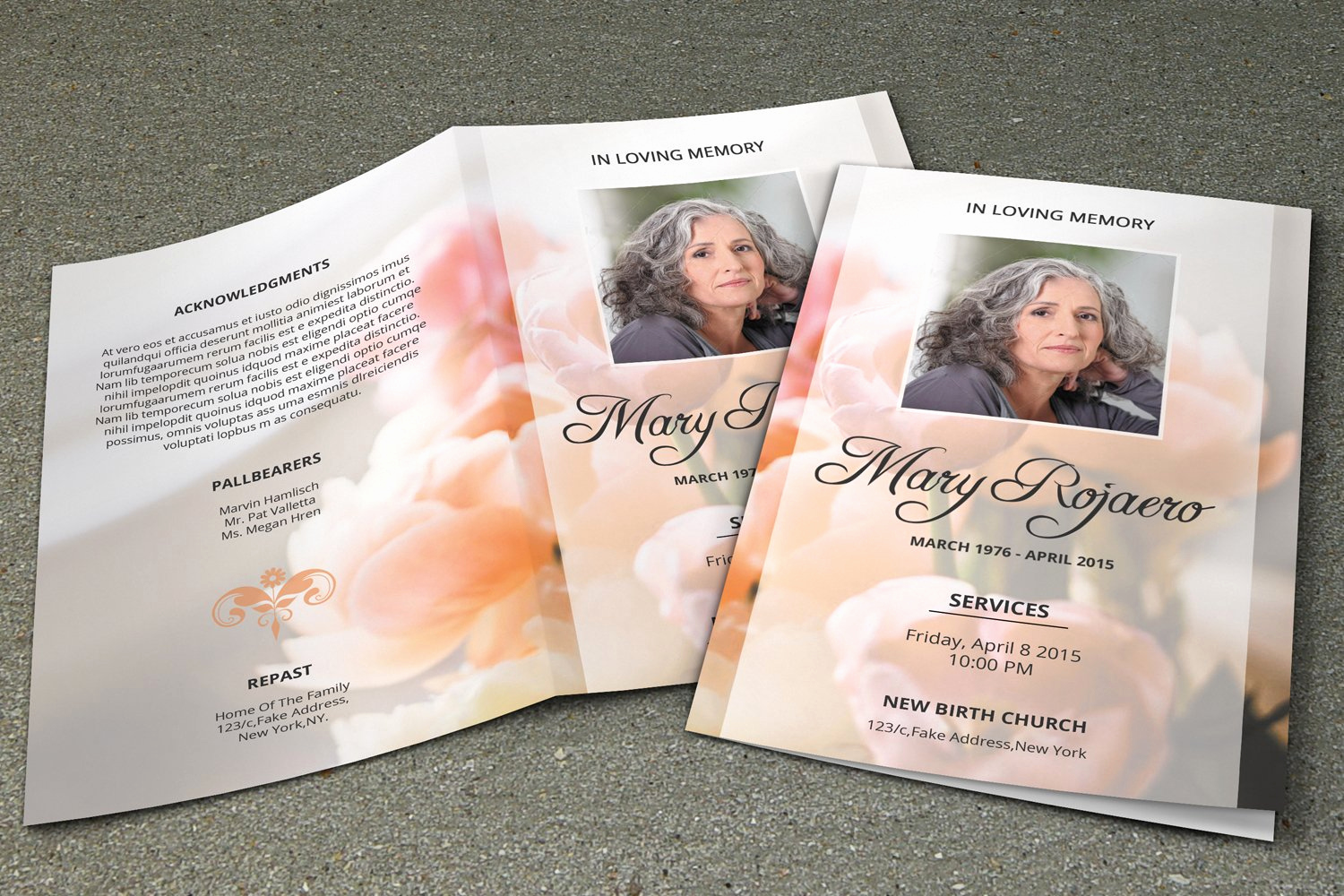 Free Memorial Program Template Download Best Of Funeral Program Template V195 Brochure Templates