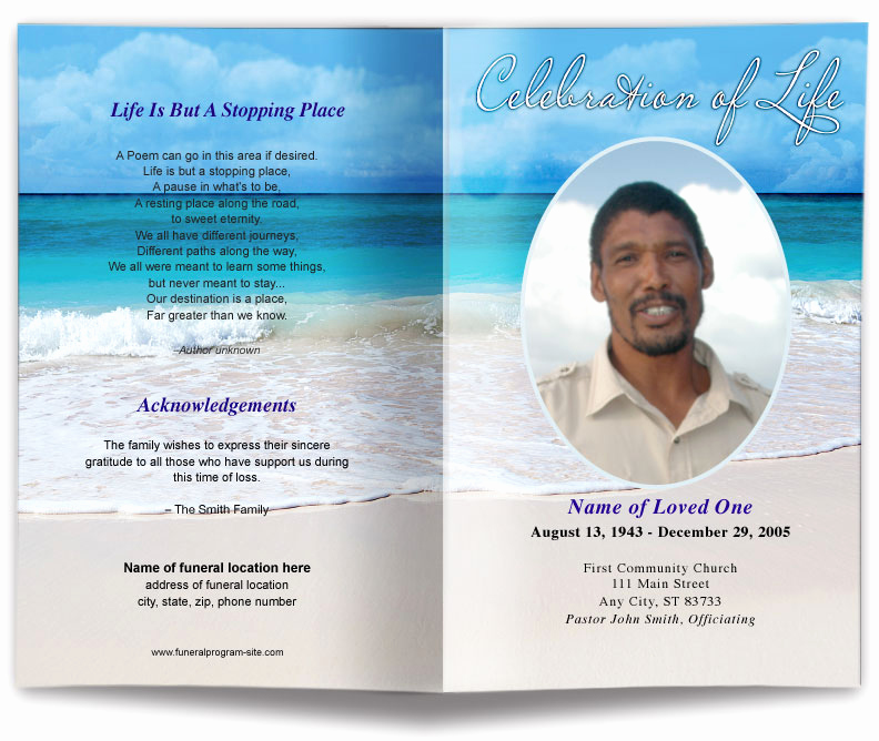 Free Memorial Program Template Download Elegant Free Editable Funeral Program Template