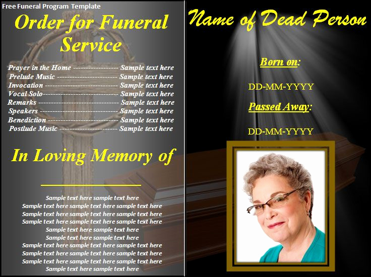 Free Memorial Program Template Download Elegant Free Funeral Program Templates