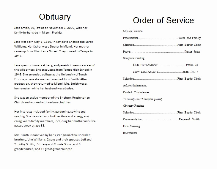 Free Memorial Program Template Download Elegant the Funeral Memorial Program Blog Free Funeral Program