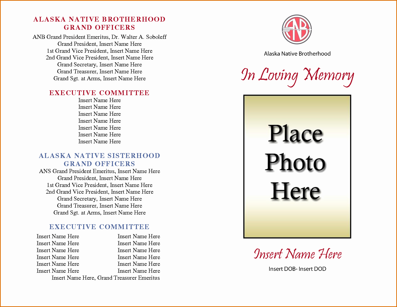 Free Memorial Program Template Download Fresh Free Editable Obituary Templates Word Pdf Daily Roabox