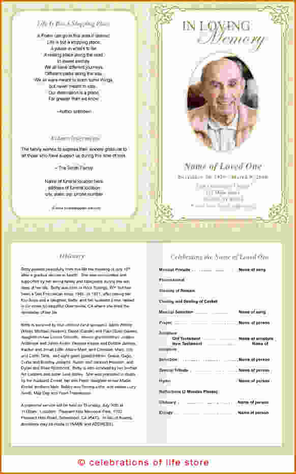 Free Memorial Program Template Download Inspirational 12 Free Printable Funeral Program Template