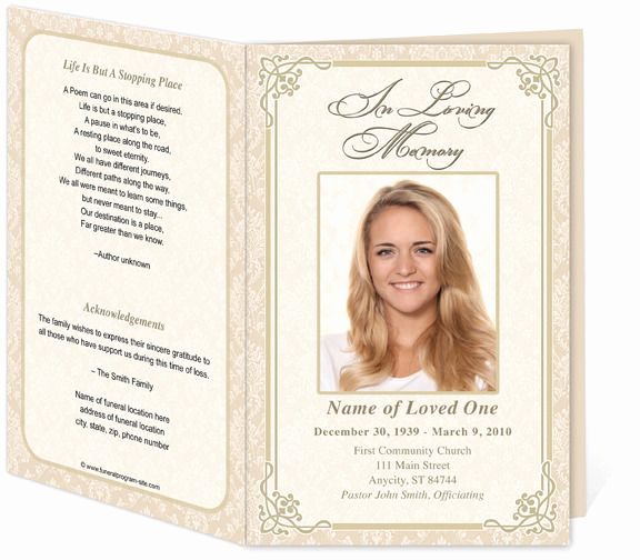 Free Memorial Program Template Download Inspirational Alexandria Printable Funeral Program Template