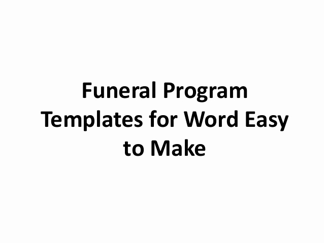 Free Memorial Program Template Download Inspirational Free Printable Funeral Program Template for Word to Download