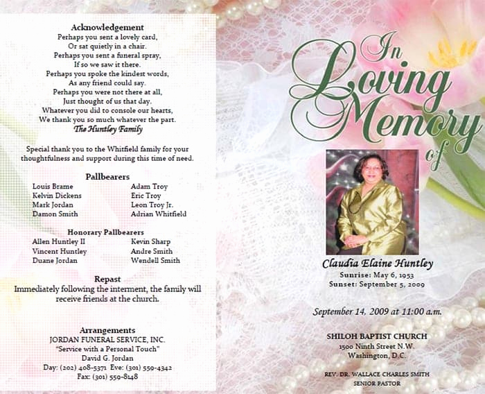 Free Memorial Program Template Download New 8 Free Funeral Program Templates Word Excel Pdf formats