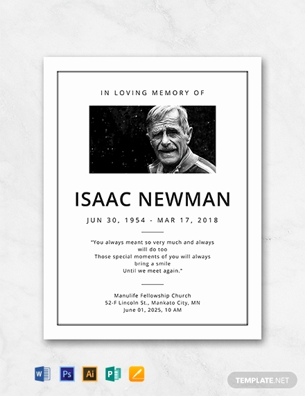Free Memorial Program Template Download New Free Simple Funeral Program Template Word