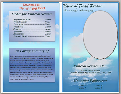 Free Memorial Program Template Download Unique Free Editable Funeral Program Template