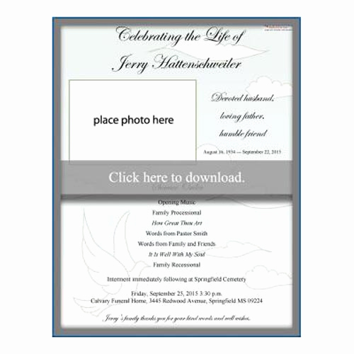 Free Memorial Program Template Download Unique Our Favorite Actually Free Funeral Program Templates