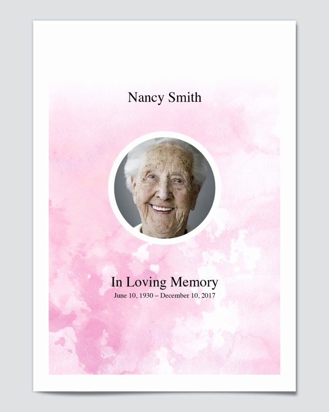 Free Memorial Program Template Fresh Free Editable Funeral Program Templates Free Editable