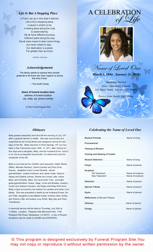 Free Memorial Program Template Inspirational 36 Lovely Free Obituary Program Template Download