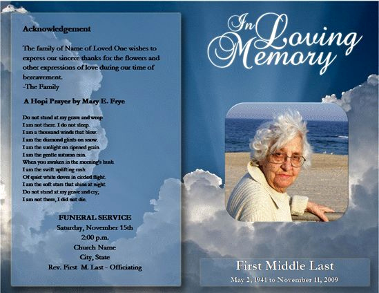 Free Memorial Program Template Luxury Free Funeral Program Template Microsoft Word