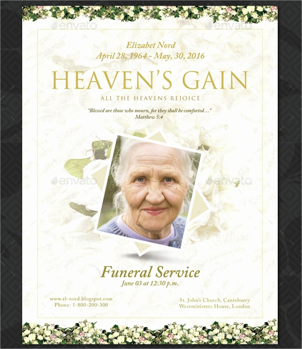 Free Memorial Program Template Unique 16 Funeral Memorial Program Templates Psd Ai Vector