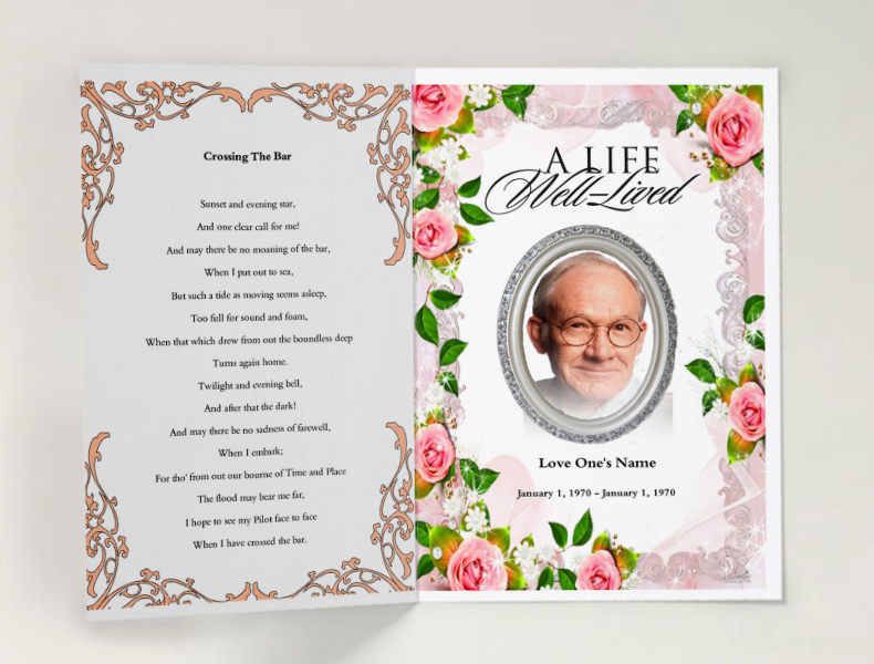 Free Memorial Program Template Unique 75 Free Funeral Program Template