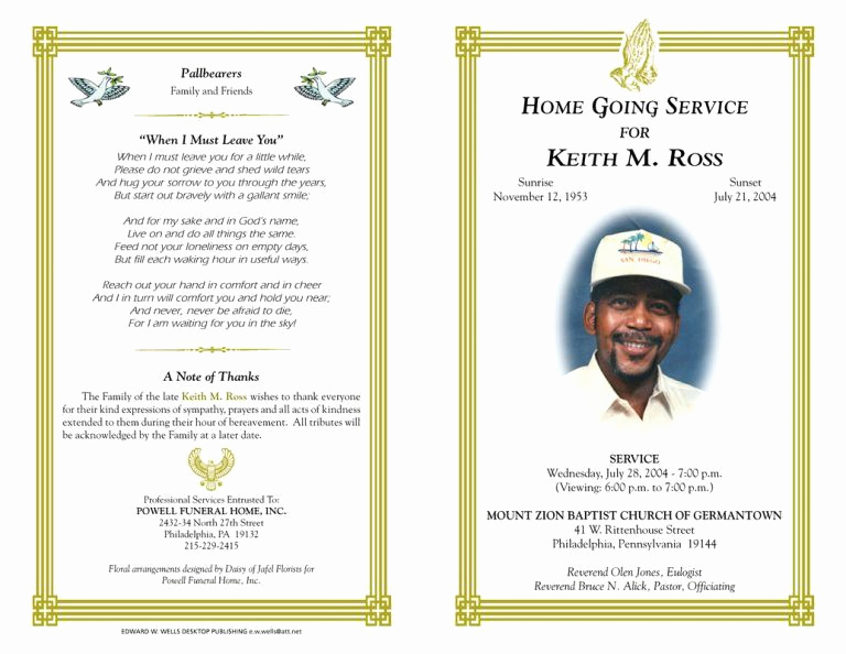 Free Memorial Program Template Unique Blank Funeral Program Template Best Photos Of Free Funeral