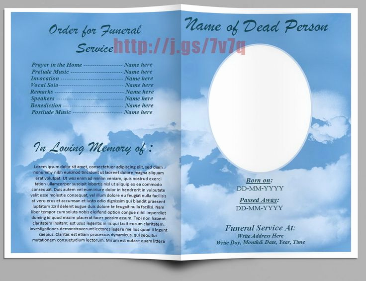 Free Memorial Program Template Unique Pin by Do Homeworks On Funeral Program Templates for Ms