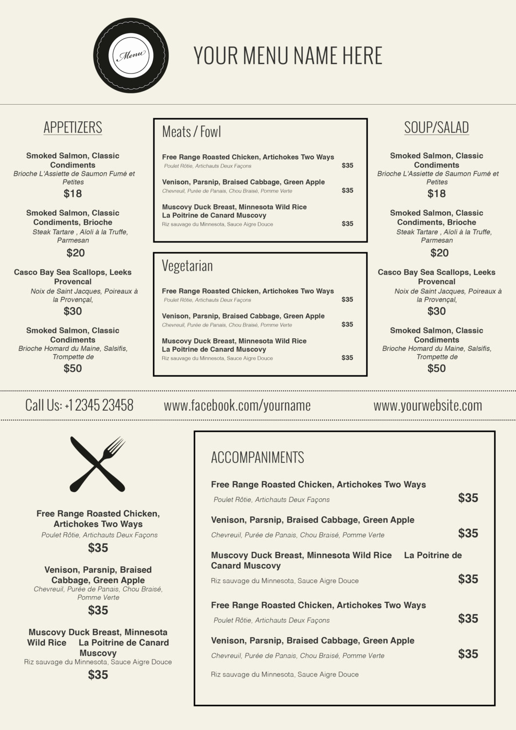 Free Menu Template Microsoft Word Awesome Design & Templates Menu Templates Wedding Menu Food