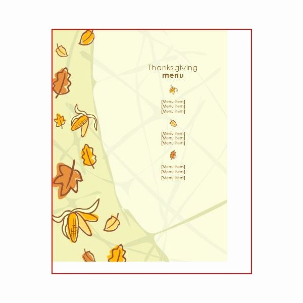 Free Menu Template Microsoft Word Awesome Great Thanksgiving Day Menu Templates to Entice and