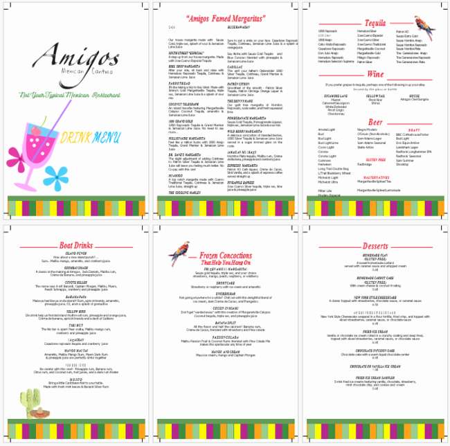Free Menu Template Microsoft Word Beautiful Drink Menu Template 5 Best Drink Menu formats
