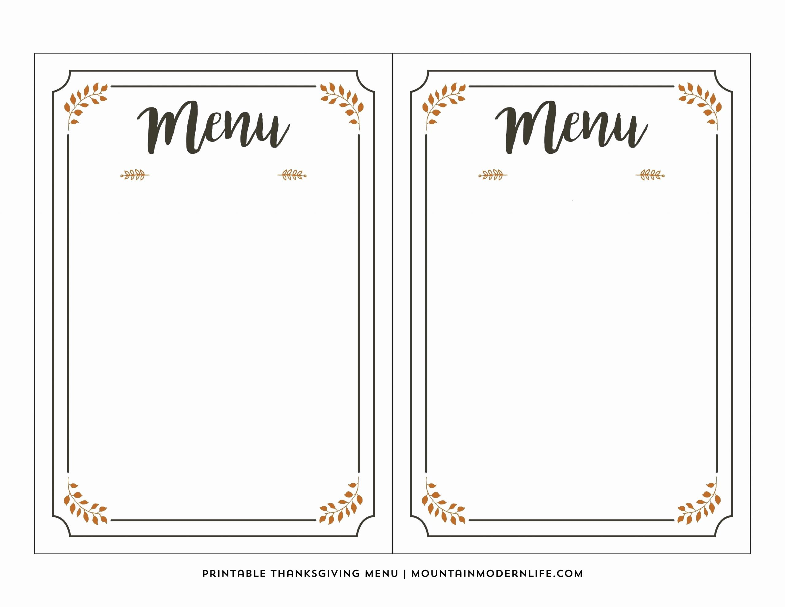 Free Menu Template Microsoft Word Best Of Printable Menus Template