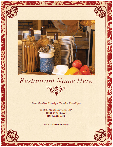 Free Menu Template Microsoft Word Best Of Restaurant Menu Template 8 Free Restaurant Menus