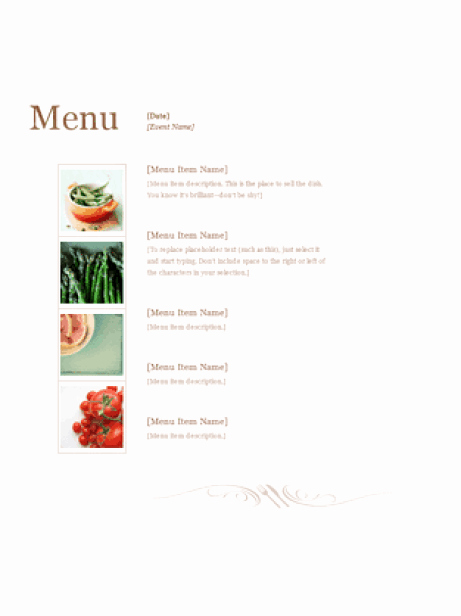 Free Menu Template Microsoft Word Luxury 21 Free Free Restaurant Menu Templates Word Excel formats