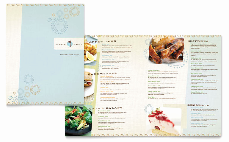Free Menu Template Microsoft Word New Cafe Deli Menu Template Word & Publisher
