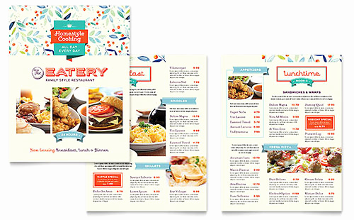 Free Menu Template Microsoft Word New Food & Beverage Brochures & Flyers Word & Publisher