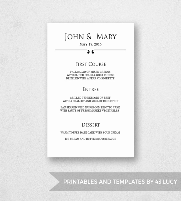 Free Menu Template Word Awesome 33 Menu Templates Free Psd Eps Ai Indesign Word