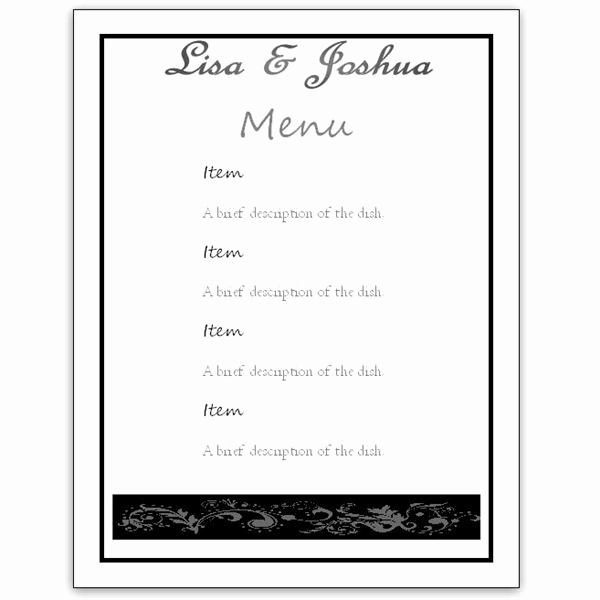 Free Menu Template Word Elegant Free Menu Template Word