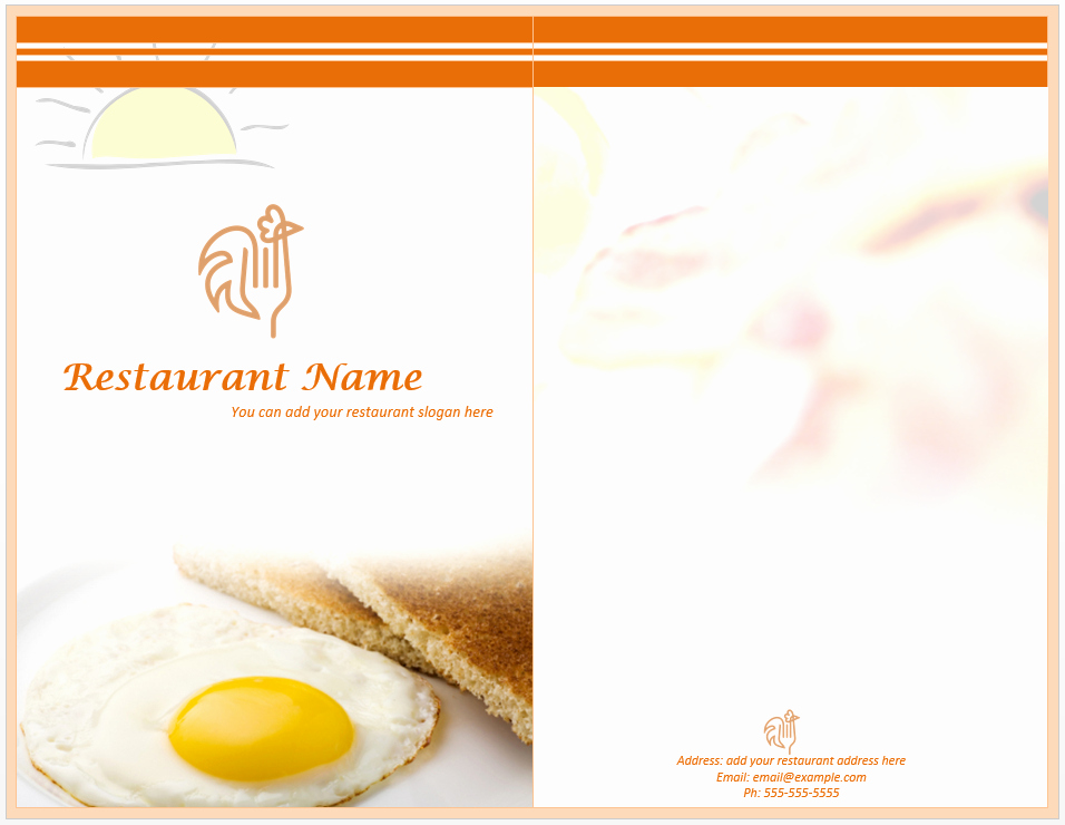 Free Menu Template Word Fresh Breakfast Menu Template Word Templates