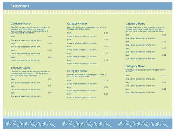Free Menu Template Word Inspirational Free Restaurant Menu Templates Microsoft Word Templates