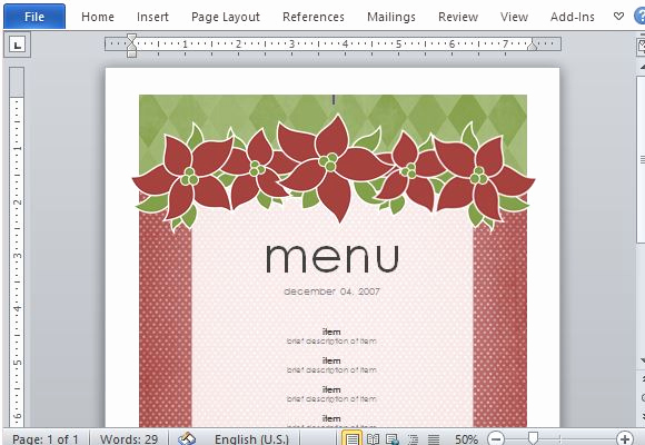 Free Menu Template Word New Best Menu Maker Templates for Word