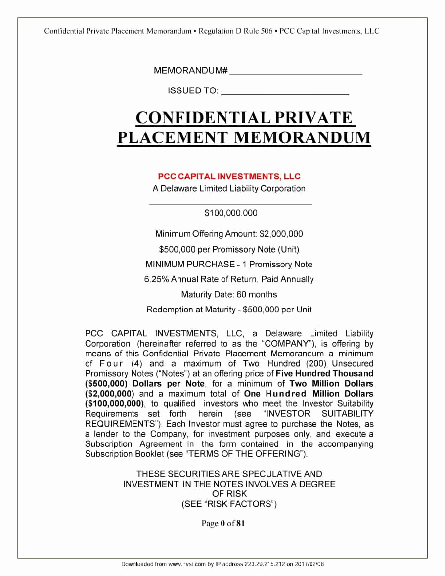 Free Offering Memorandum Template Luxury 40 Private Placement Memorandum Templates [word Pdf]