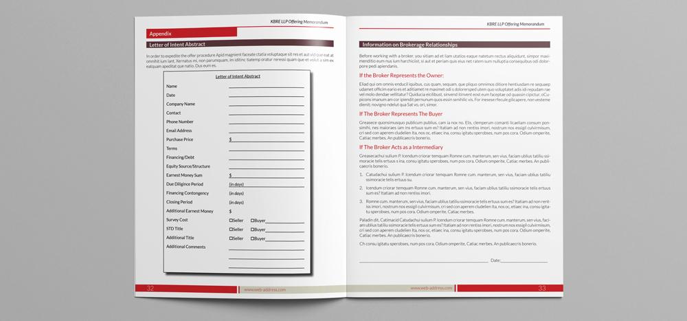 Free Offering Memorandum Template Luxury Fering Memorandum Indesign Template On Behance