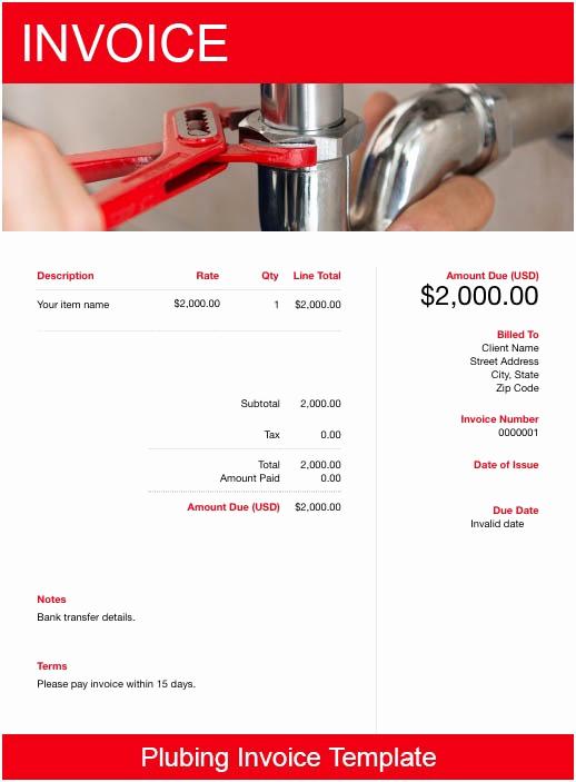 Free Plumbing Invoice Template Elegant Plumbing Invoice Template Free Download
