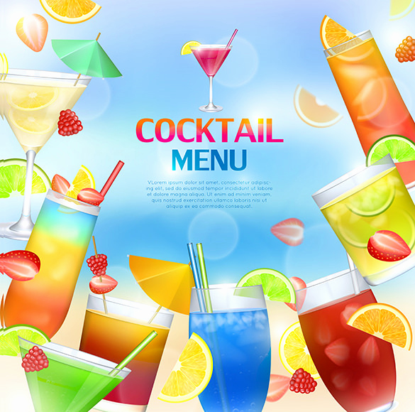 Free Printable Drink Menu Template Unique Cocktail Menu Templates – 54 Free Psd Eps Documents