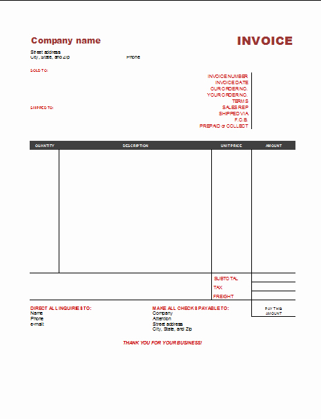 Free Printable Invoice Template Word Fresh 3 Free Invoice Templates to Build Any Type Of Invoice