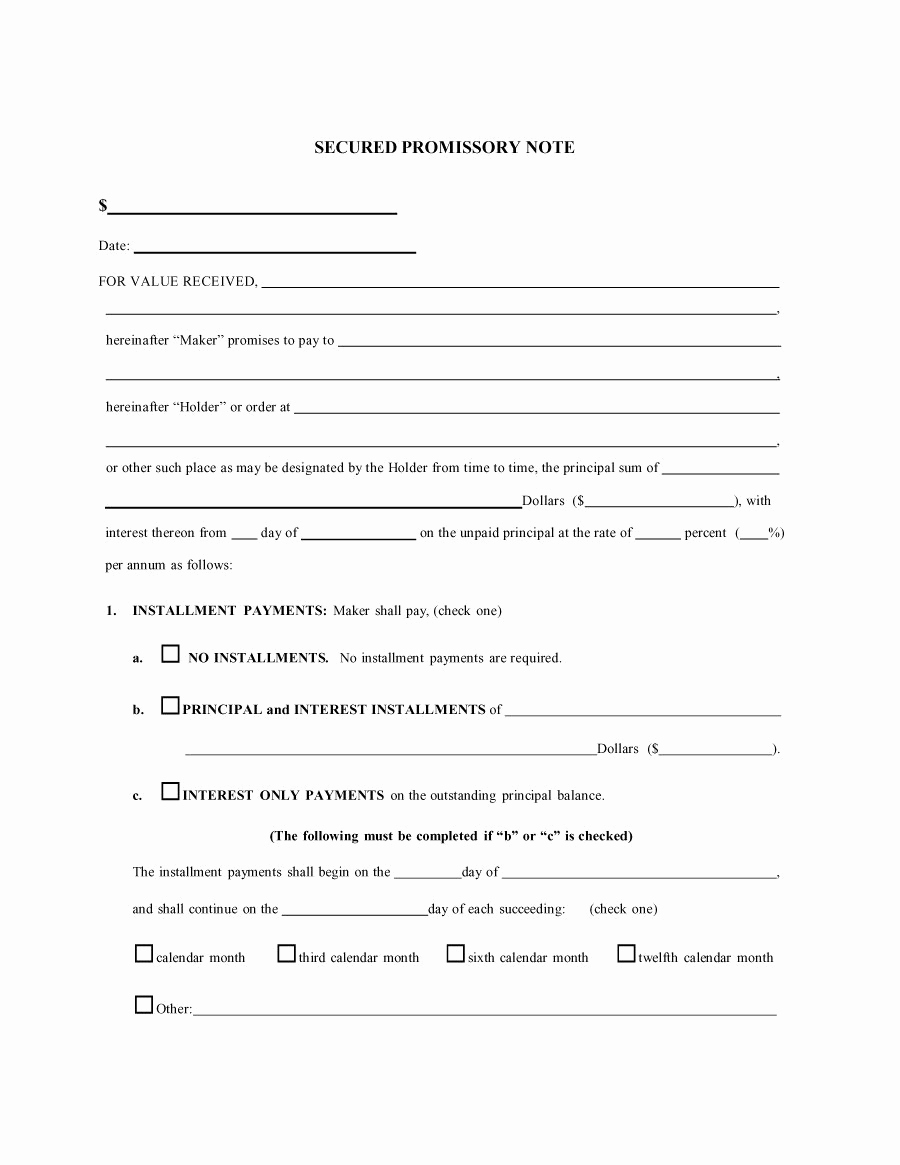 Free Promissory Note Template Pdf Best Of 45 Free Promissory Note Templates & forms [word & Pdf]