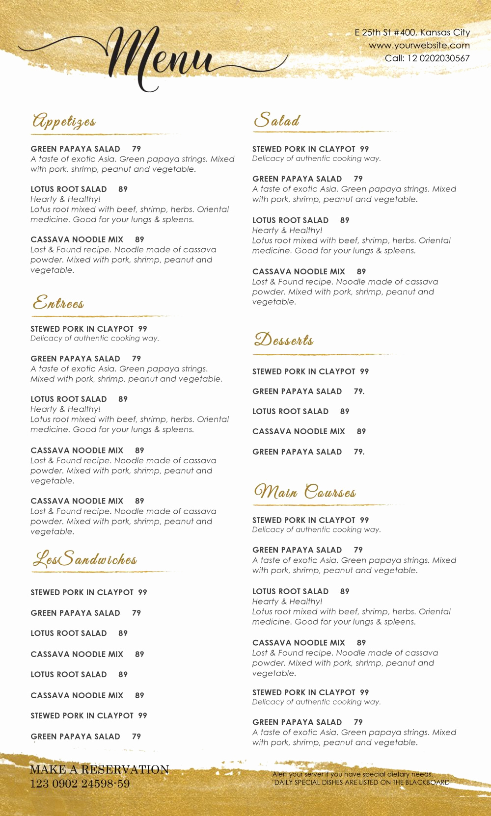 Free Restaurant Menu Template Word New Design & Templates Menu Templates Wedding Menu Food