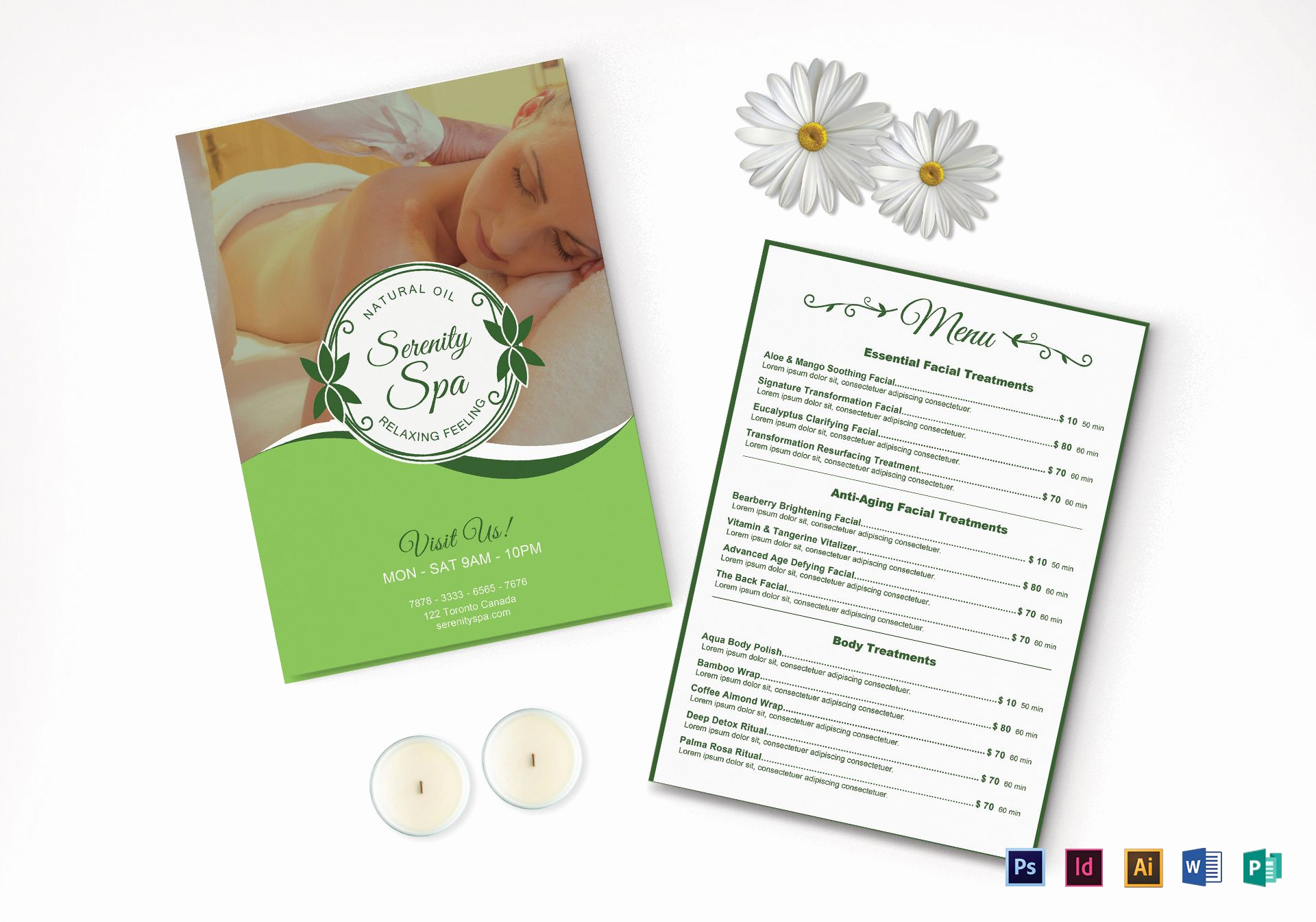 Free Salon Menu Template New Spa Menu Design Template In Psd Word Publisher
