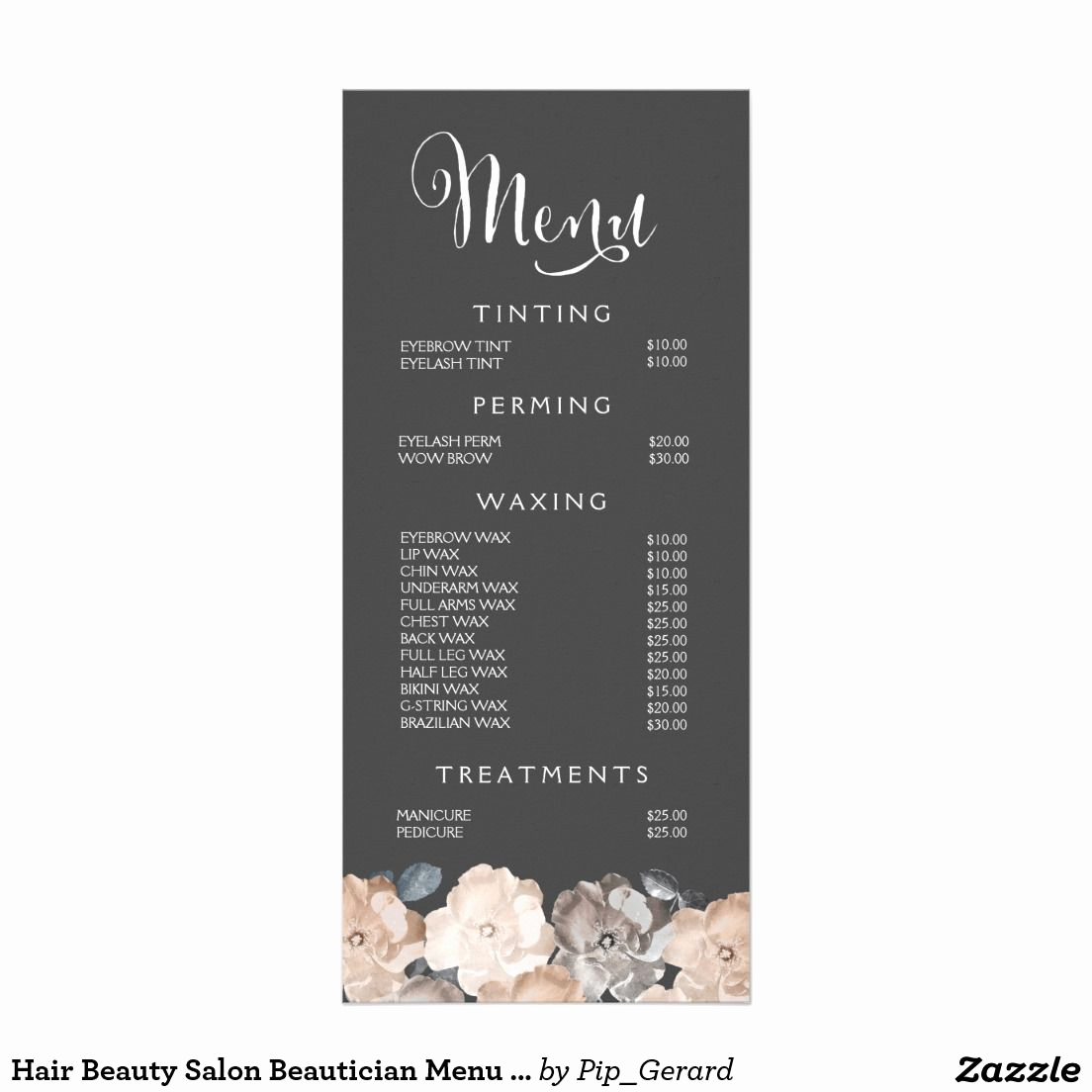 Free Salon Service Menu Template Fresh Spa Menu Template Google Search