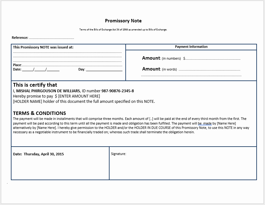 Free Secured Promissory Note Template Beautiful 43 Free Promissory Note Samples & Templates Ms Word and